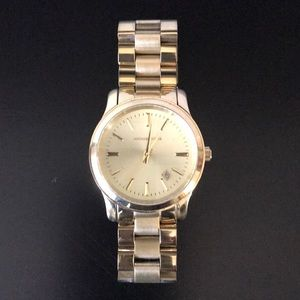 "Michael Kors ""Runway"" bracelet watch in gold."